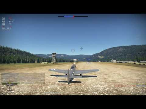 War Thunder with friends tank RB p51-D-20 air support