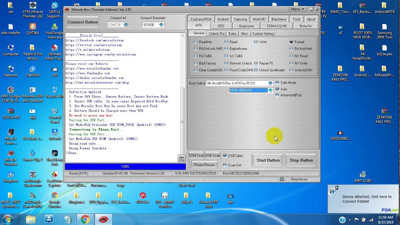 Vivo Y12 Y15 Y17 Pattern Unlock By Miracle Box