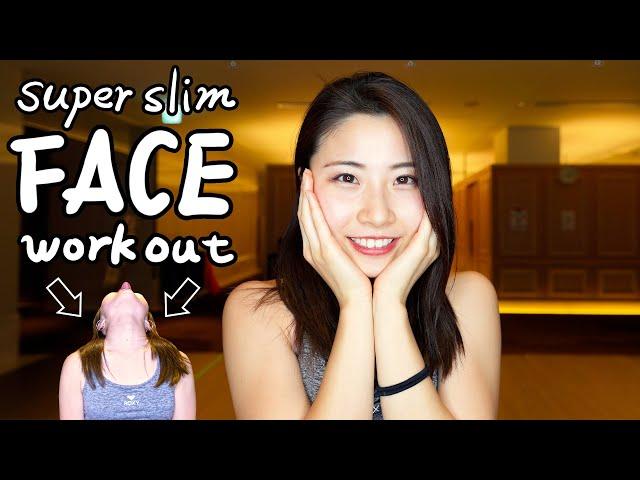 [顔トレ] 二重あごのたるみが消えて美しい小顔へ![Face workout] Burn chin & jawline fat! Get a beautiful small face!