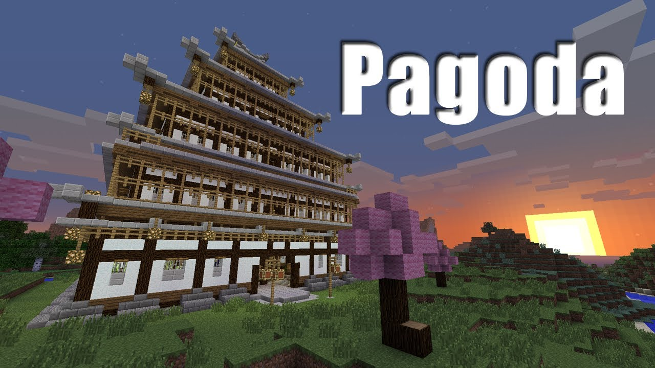 Minecraft Timelapse   Japanese Pagoda (250 Subscriber Special)