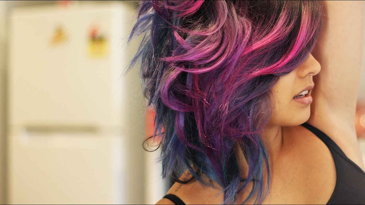 Pink And Purple Hair Styles: How I Did My Pink, Purple, Violet Hair