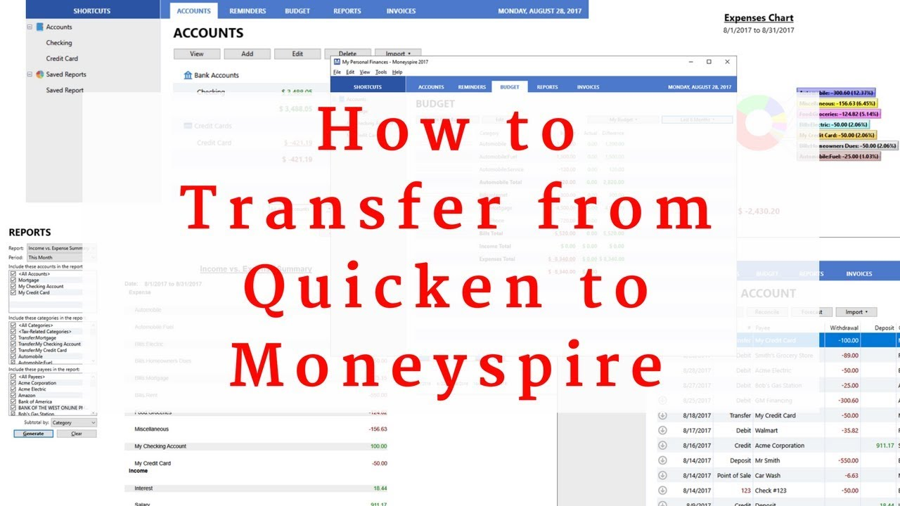 How to import a Quicken data file to Moneyspire - Top