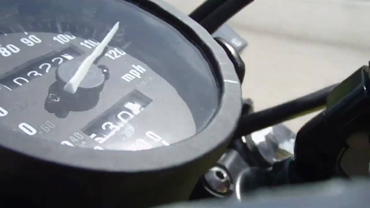 suzuki dr650 @ 120 mph - youtube