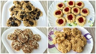 2-Ingredient Banana Oatmeal Cookies - 4 Variations | Kitchen Time with Neha