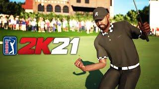 Justin thomas, schoolboyq, the miz, and villainous golfer extraordinaire chris mcdonald hopped online went head-to-head in pga tour 2k21. what down?...