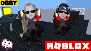 We RUN FROM DADDY from WORK-Roblox HQ Obby!!! | Daddy and Barunka CZ/SK