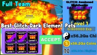 Insane Trade Got Full Team of Dark-Element Glitch Pets!  - Ninja Legends Roblox