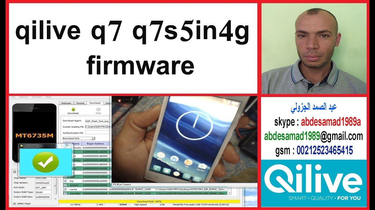qilive q7 q7s5in4g firmware flash rom