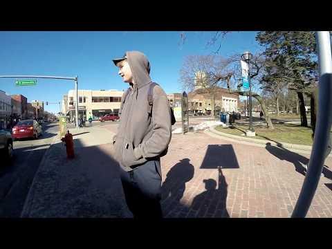 Drunk confused kid confronts street preacher (Ann Arbor)