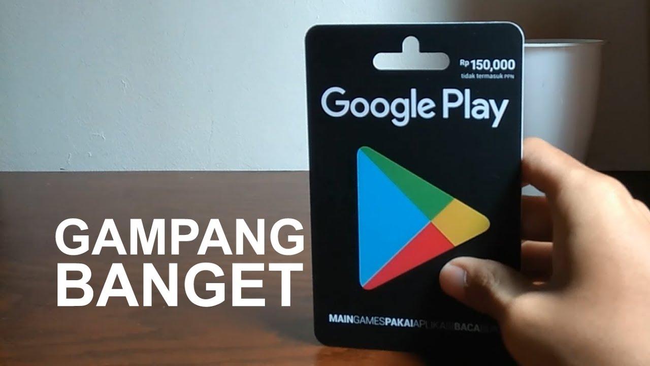 Cara Praktis Isi Saldo Google Play Dengan Voucher Youtube