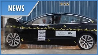 tesla Model 3 full CRASH TEST (perfect 5 rating)