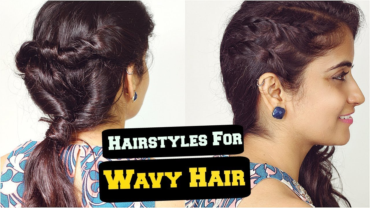 2 Easy Everyday Hairstyles For Wavy Frizzy Hair For School College Work Ft Slick And Natty Youtube
