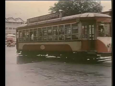 Rare Video clip of Tram Services in *Bombay*...... 31st March 1964. Passing through *Flora Fountain,