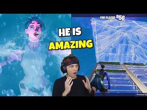 i drowned and spectated this amazing CONTROLLER PLAYER in fortnite... (shocking)