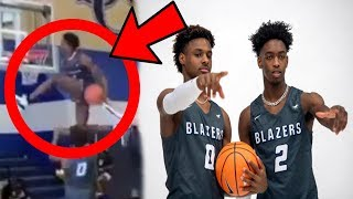 Bronny James & Zaire Wade HAVE A DUNK CONTEST at Sierra Canyon Media Day (Highlights, LeBron)