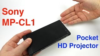 Sony MP-CL1 Pocket 720p HD Laser Projector - REVIEW