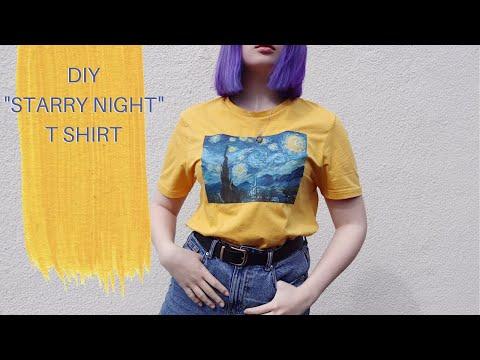 "diy-painted-t-shirt-van-gogh's-""starry-night"""