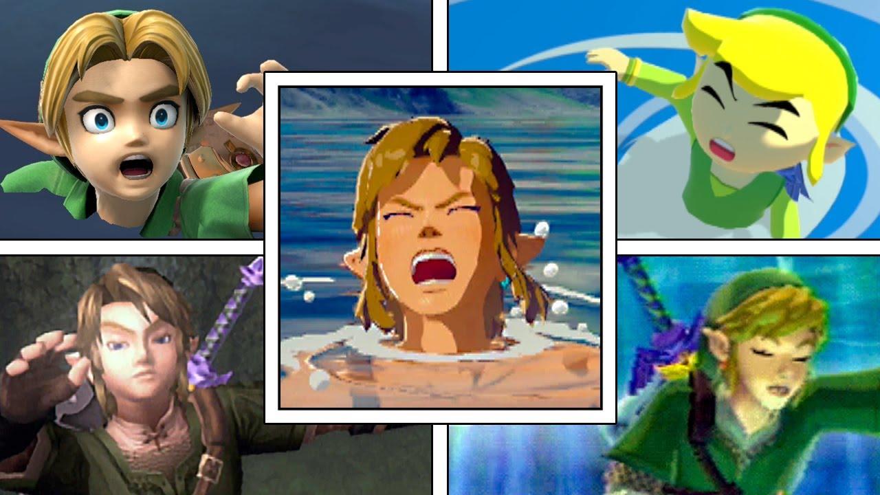 Download Evolution Of Link Drowning In Legend Of Zelda Games (1987-2020)