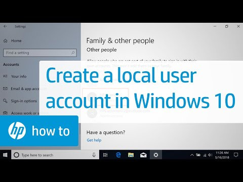 Create a Local User Account in Windows 10 | HP Computers | HP
