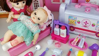 Baby doll and doctor Hospital ambulance toys car play - 토이몽