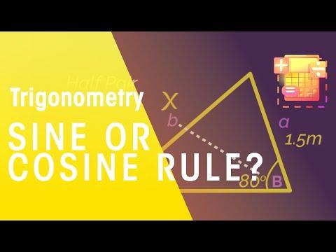 Sine Or Cosine Rule? | Trigonometry | Maths | FuseSchool thumbnail