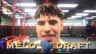 📺 LaMELO BALL Q&A: Warriors/Steph; hasn't sp๐ken to a lot of teams, feels he can fit any NBA team