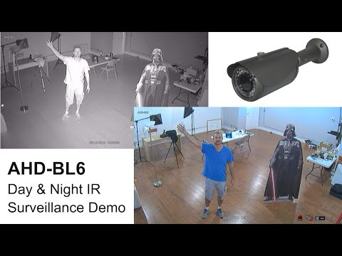 AHD-BL6 HD Security Camera Day & Night Infrared Surveillance Video