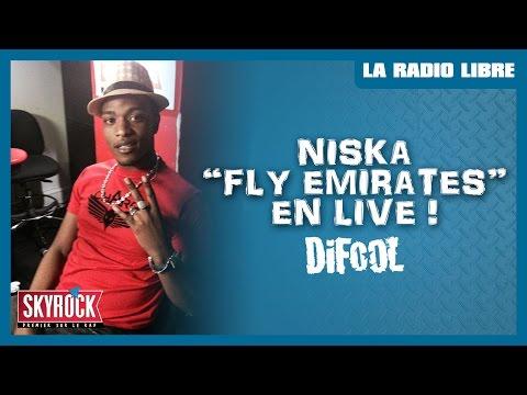 "Niska ""Fly Emirates"" en live #LaRadioLibre"