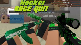 Making A Hacker RAGE QUIT In Counter Blox!