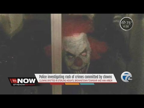 Police investigating rash of crimes committed by clowns