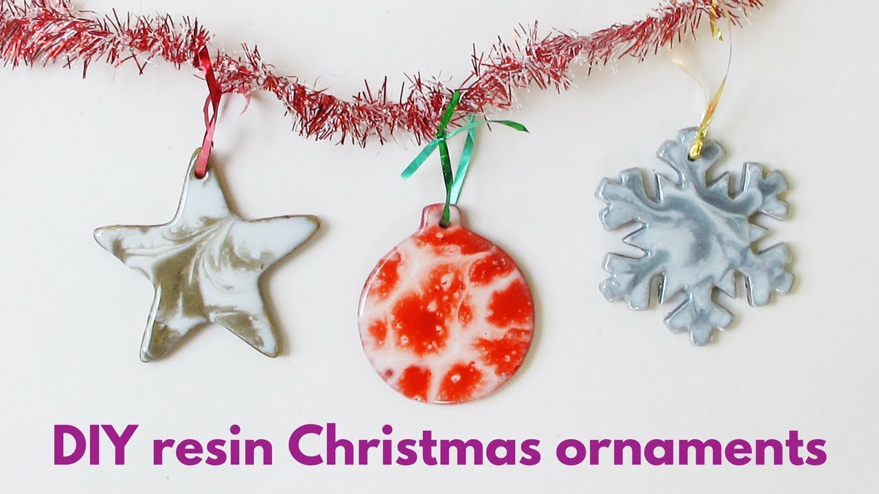 How to make your own resin Christmas ornaments - YouTube