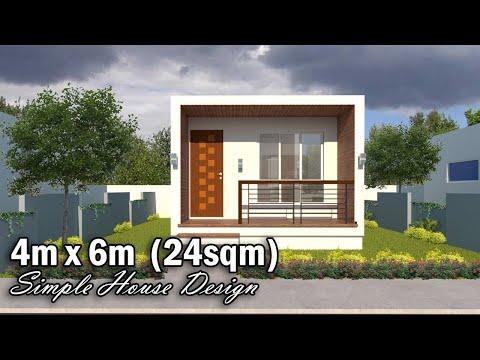 4m x 6m 24sqm 1 BEDROOM SIMPLE HOUSE DESIGN