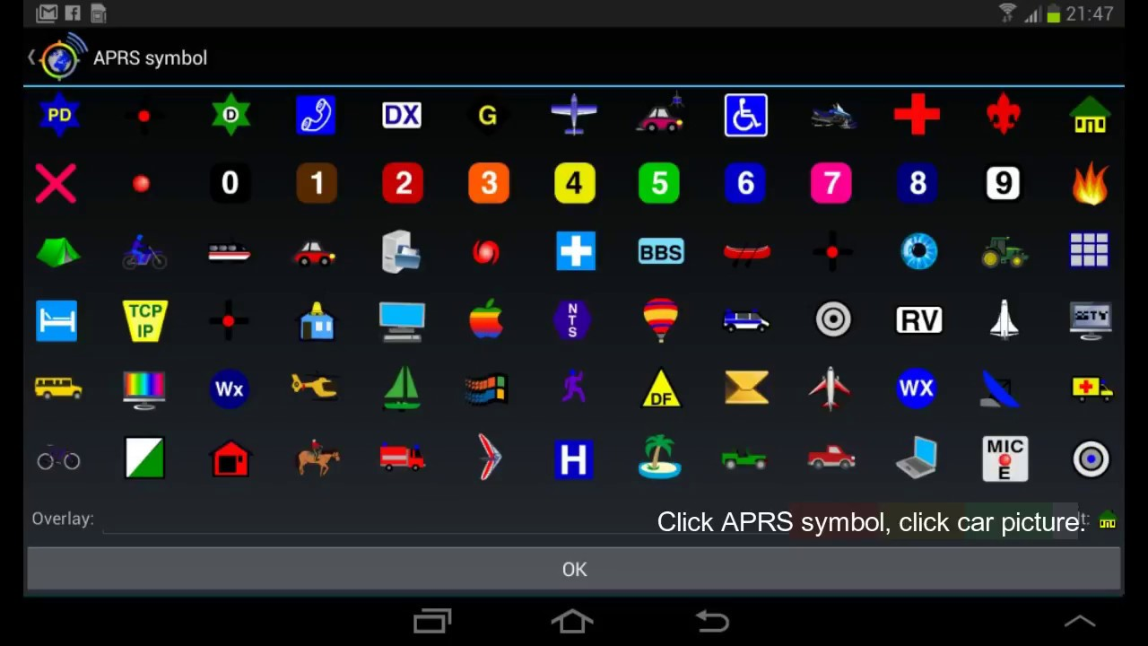 APRS setup for android mobile and manual station