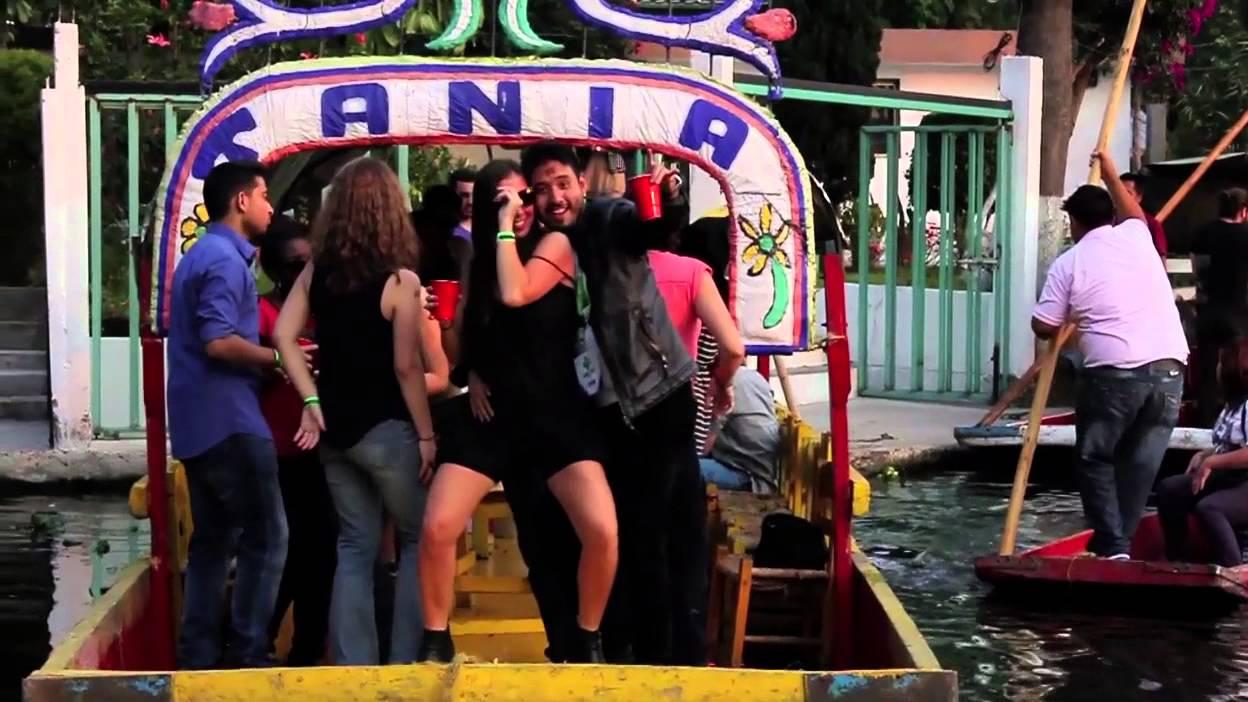 Xochimilco Trajineras Party  YouTube