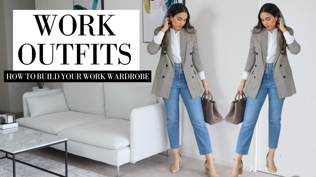 BACK TO WORK OUTFITS   How To Build Your Work Wardrobe 2021   From Pieces At Home ZARA & H&M