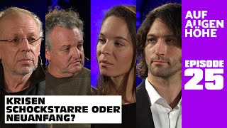 KRISEN – SCHOCKSTARRE ODER NEUANFANG? Nina Maleika, Marco Rima, Dieter Brandecker u. Justus Hoffmann