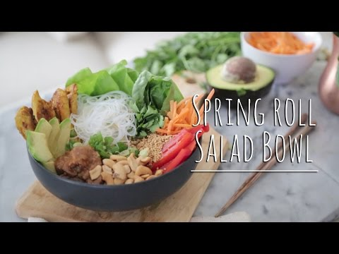 SPRING ROLL SALAD BOWL | The Chic Lab