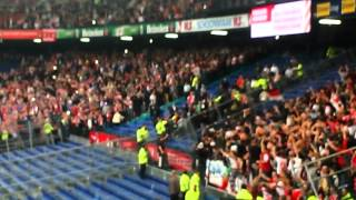 Feyenoord-StandardLuik Trouble on the Terraces 2-10-2014.