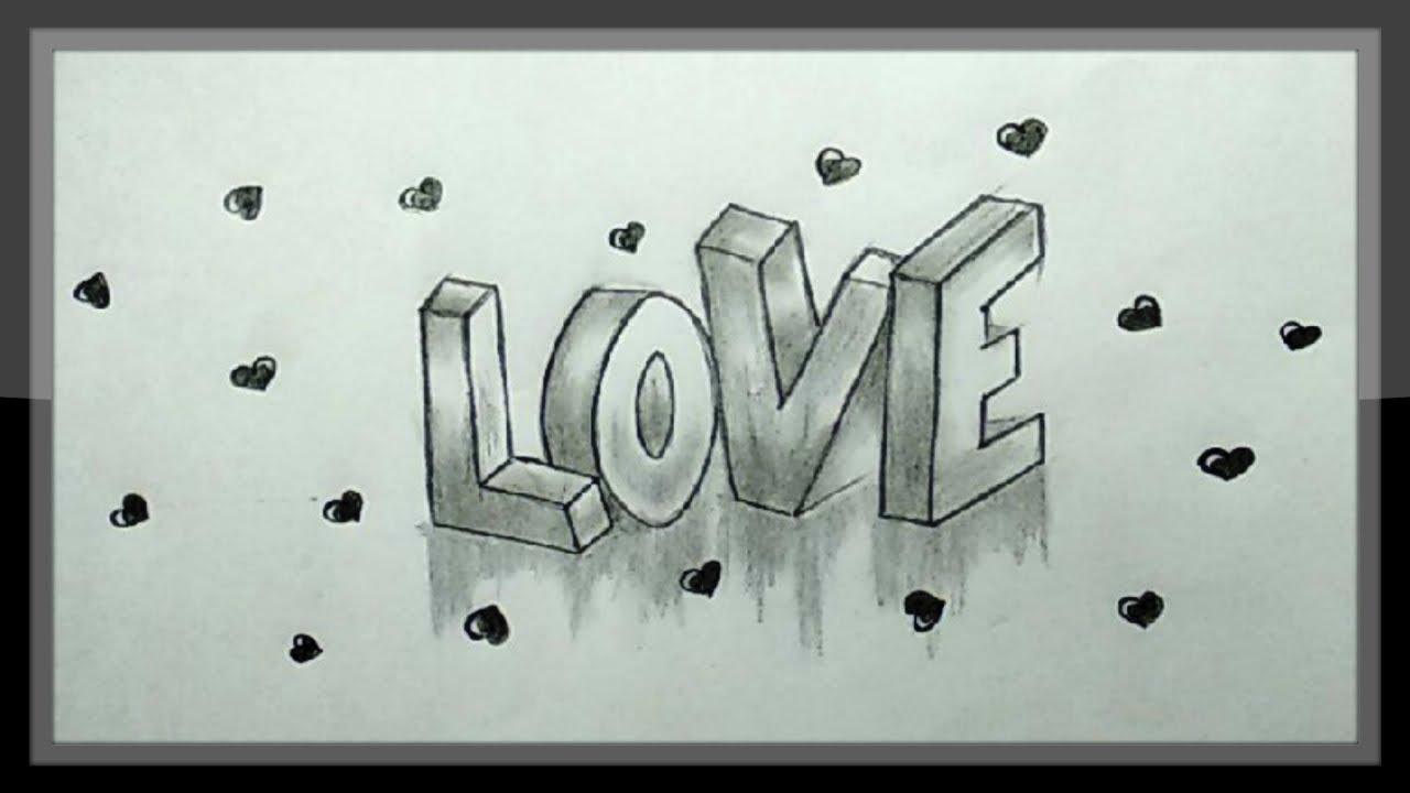 Cute Love Drawings In Pencil Step By Step Cute Love ...