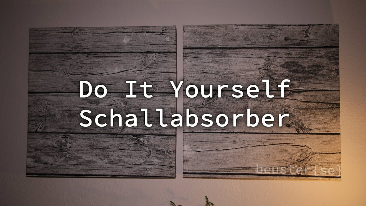 do it yourself schallabsorber hd youtube. Black Bedroom Furniture Sets. Home Design Ideas
