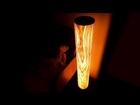 Как сделать дизайнерский светильник из дерева своими руками / DIY wood lamp