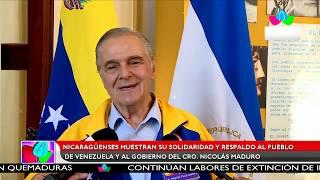 Multinoticias | Nicaragüenses muestran su solidaridad y respaldo al pueblo y gobierno venezolano