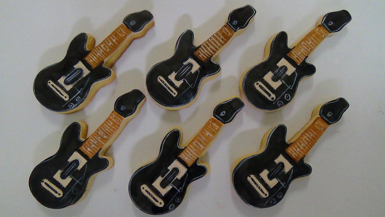 how to make guitar hero cookies - YouTube