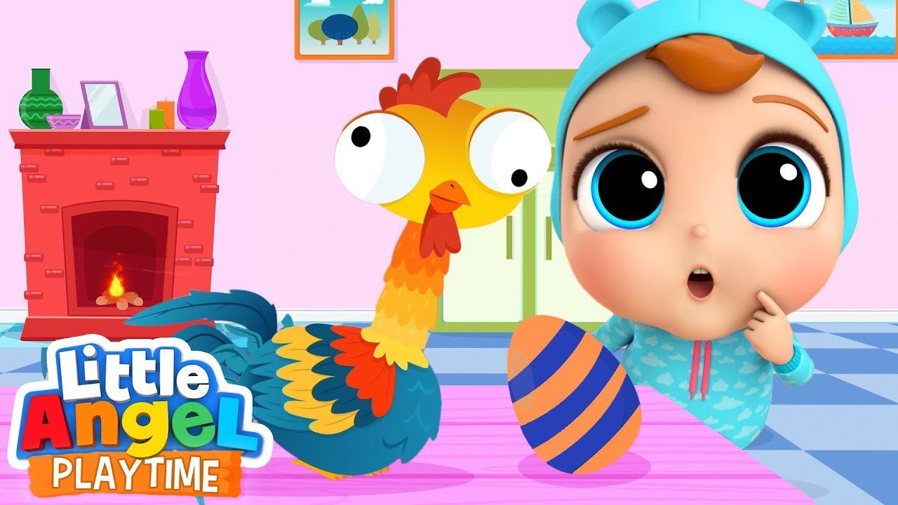 Counting Eggs with Crazy Hen | A Numbers Song | Little Angel Kids Songs & Nursery Rhymes