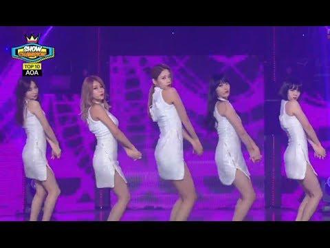 AOA - Miniskirt, 에이오에이 - 짧은 치마, Show Champion 20140212