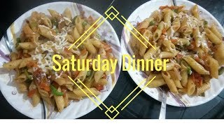 Saturday Special Dinner Routine ||  Making Vegetable Cheesy Pasta || makeUbeautiful