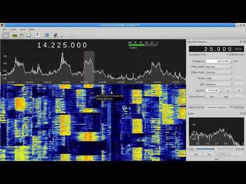 CQ WW SSB 2017 with Airspy HF+ and Gqrx - YouTube