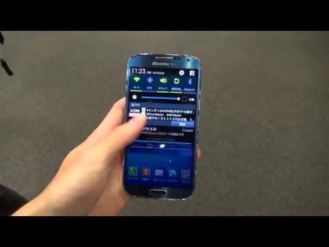 docomo Galaxy S4(SC-04E)  Blue Arctic color Hands on!!