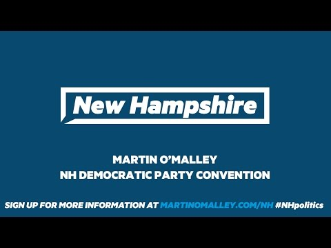 Martin O'Malley speaks at the New Hampshire Democratic Party State Convention