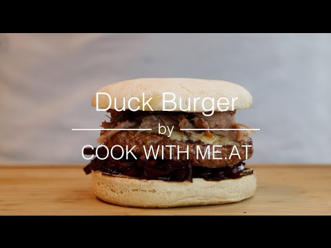 Duck Burger @Weber Original Store Berlin #grilltank - COOK WITH ME.AT
